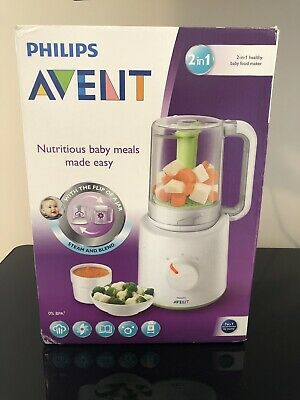 Philips AVENT 2-in-1 Healthy Baby Food Maker Steame Flip Blend Healthy Meals NEW