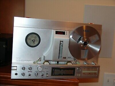 Silver Akai Gx 77 Reel To Reel Tape Recorder Recapped And Fully Serviced And Box