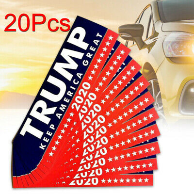 20X Donald Trump President 2020 KEEP AMERICA GREAT Bumper Sticker Car Stickers