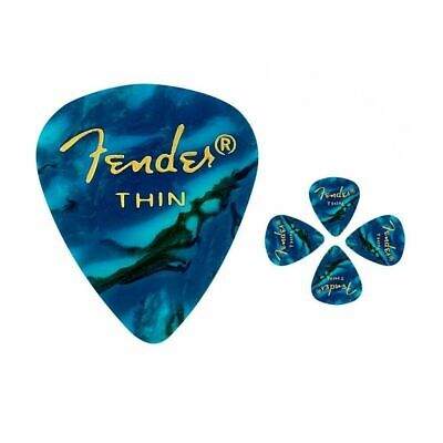 Fender 351 Premium Thin  Celulloid  Guitar Picks -  Ocean Turquoise Moto 5 Picks