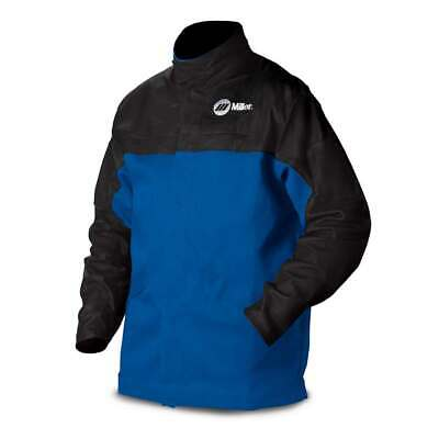 Miller 231080 Combo Leather and Indura Welding Jacket, Small