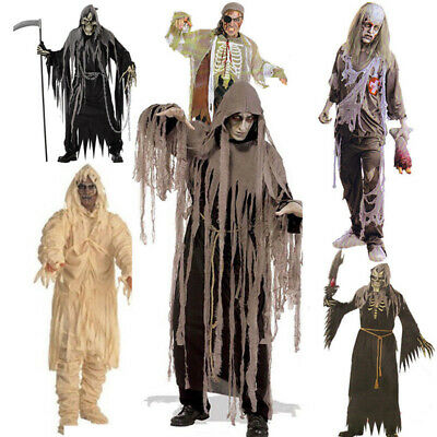 UK Mad Scary Zombie Mummy Horror Halloween Adult Party Mens Fancy Dress Costume