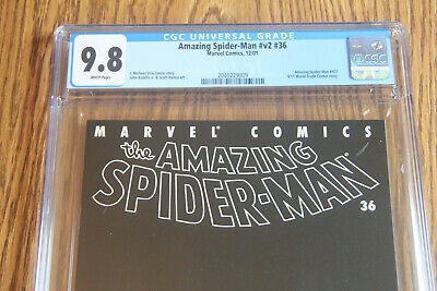 Amazing Spider-Man #36 - Cgc 9.8   9/11 Black Cover, Best Price, White Pages!!!