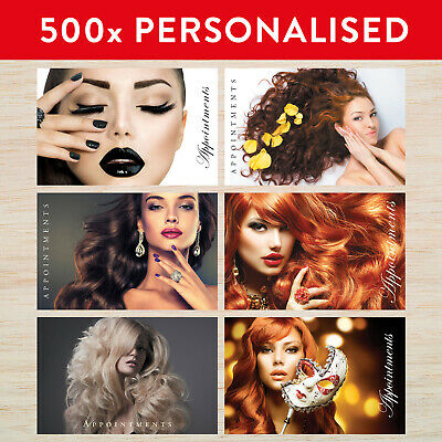500 x Personalised Appointment Cards Hair Beauty Nails **Any of our Designs**