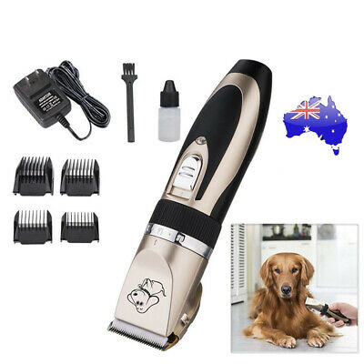 Electric Pet Rechargeable Clipper Dog Cat Hair Trimmer Comb Grooming Clippers