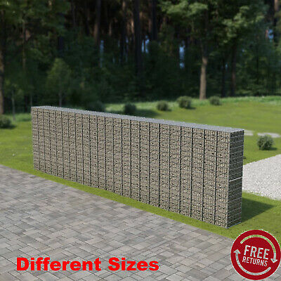 Garden Gabion Wall with Cover Welded Mesh Outdoor Rock-Stone Wall Basket