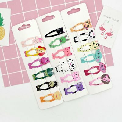 6pcs/Set Cute Animal Girls Kids Hair Clips Hairpin Headwear Children Styling Hot