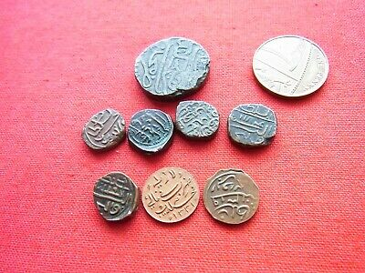 A COLLECTION of 8 BYZANTINE BRONZE COINS
