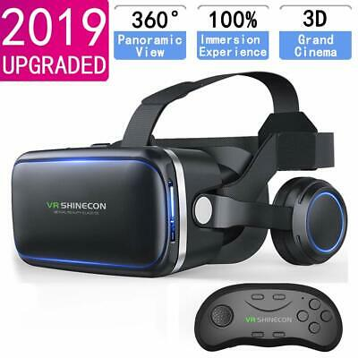 Virtual Reality 3D VR Glasses Headset With Remote Controller For Samsung iPhone