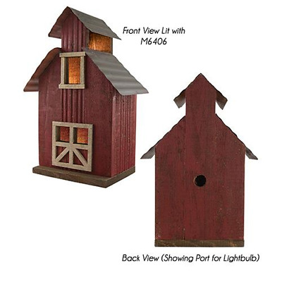 Primitive RUSTIC RED BARN Saltbox Country Farmhouse Rustic Wood Village Display