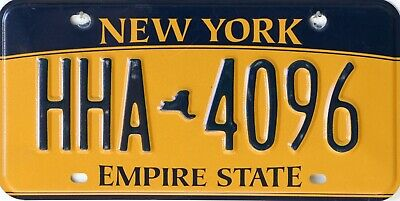 USA Number Licence Plate NEW YORK GOLD CURRENT