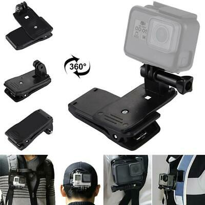 360° Rotary Backpack Hat Belt Clip Fast Clamp Mount for Gopro Hero 3+/3/2/ Hot
