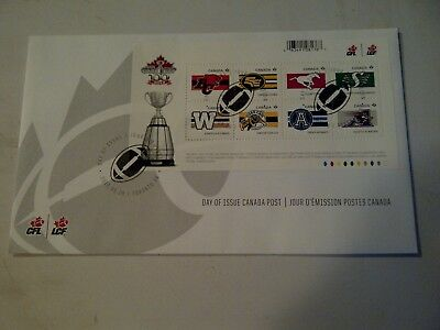 Canada Post Date of Issue CFL Grey Cup 100th anniversary football stamps