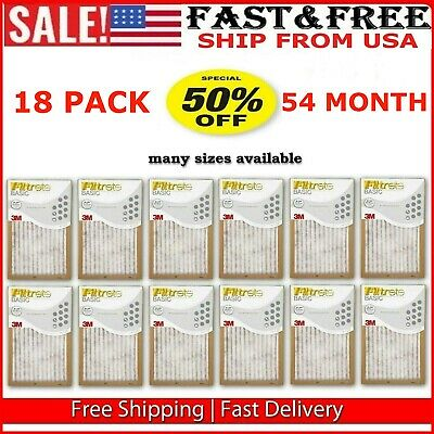 Filtrete Air Filter 18 Pleated Furnace Replacement Pad Dust Pack 36 Month Supply