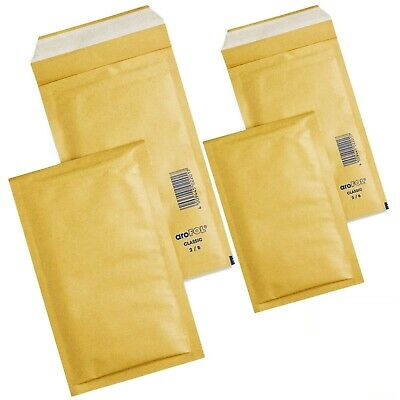 AROFOL GENUINE GOLD BUBBLE PADDED ENVELOPES MAILERS BAGS SIZES 2 (120mm-215mm)