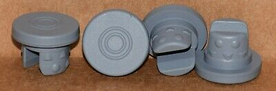 20mm Gray Butyl Serum Vial Stoppers 2 Leg Nubbed ANY QTY