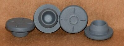 20mm Gray Butyl Serum Vial Stoppers Round Bottom ANY QTY