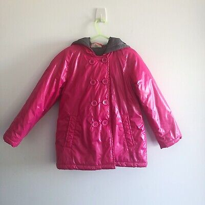 Seed Heritage Girls Puffer Jacket with Hood Size 4-5 Pink Winter