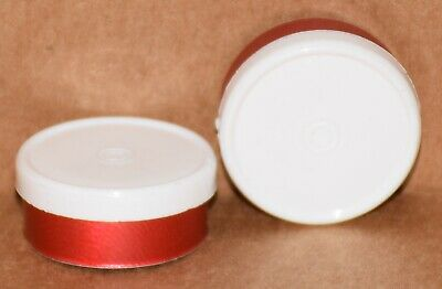 20mm Aluminum Plain Flip Top Serum Vial Seals ANY QTY - White On Red Aluminum