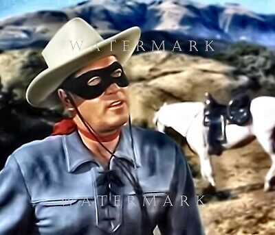CLAYTON MOORE - Digital Oil Painting 8x10 THE LONE RANGER AND SILVER