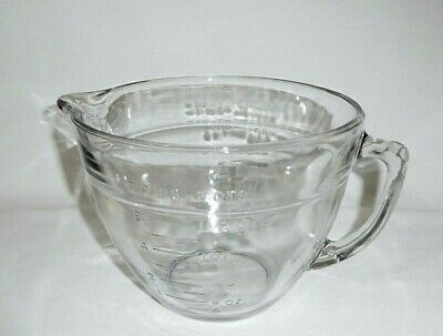 Vintage Fire King/Anchor Hocking Clear Glass 2 Qt Mixing Batter Bowl