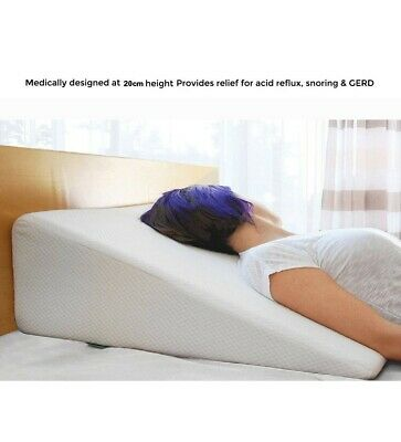 Orthopedic Memory Foam Wedge Pillow Acid Reflux Back Support With Zip Cover