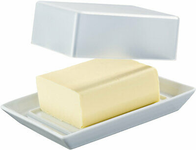 ARZBERG Butterdose Kitchen Friends White Butterschale mit Deckel weiß
