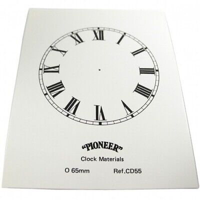 NEW White Card Paper Replacement Clock Dial 65mm Roman Numerals - CD55