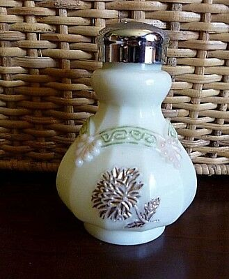 "EAPG Victorian Northwood Glass ""Chrysanthemum Sprig"" Custard Salt Shaker"