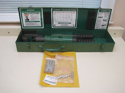 Greenlee 1989 Manual Dieless Hydraulic Crimper Compression Tool Used Ships Free