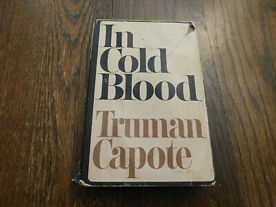 Vtg In Cold Blood Truman Capote 1965 First Edition Random House HC w dust cover