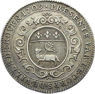 O3770 RARE Jeton CFF de Montmorency Luxembourg Normandie 1709 Argent ->F offre