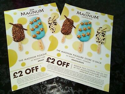 Magnum London Store Coupons/Vouchers worth £4
