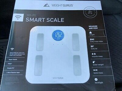 Weight Gurus Wifi Smart Connected Body Fat Bathroom Scale w/ Backlight LCD