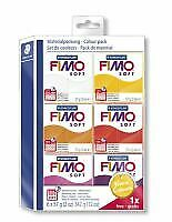 FIMO Modelling Clay Soft pack warm colours