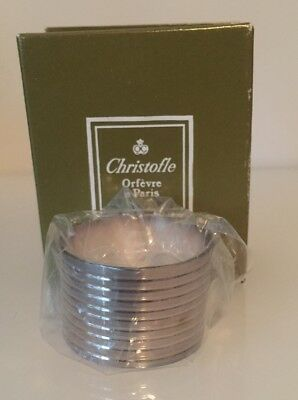 Christofle Silver Napkin Ring - In Original Packaging, Never Opened.