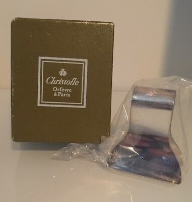 Christofle Silver Napkin Clip - In Original Packaging, Never Opened.