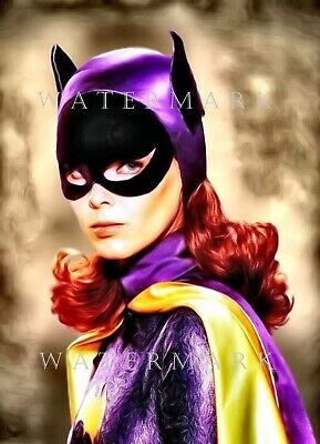 YVONNE CRAIG - ORIGINAL 1966 BATGIRL - Digital Oil Painting 8x10 Print BATMAN