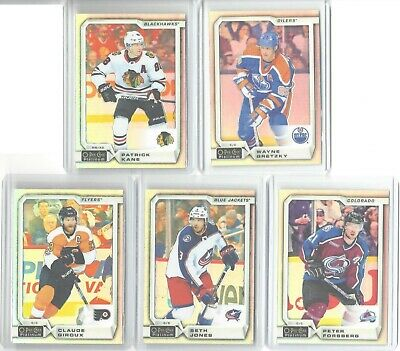 2018-19 O-Pee-Chee Platinum Lot Of 5 Rainbow Parallels Wayne Gretzky Forsberg +