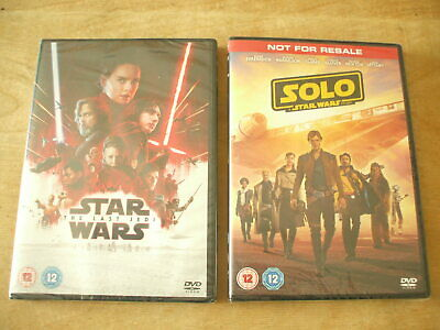 New & Sealed Dvd - Solo A Star Wars Story & The Last Jedi