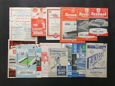 155 Football Programmes from the 1940's onwards