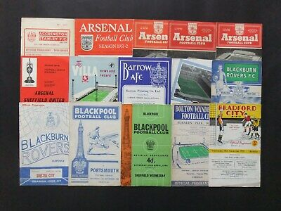 100 Football Programmes from the 1950's onwards