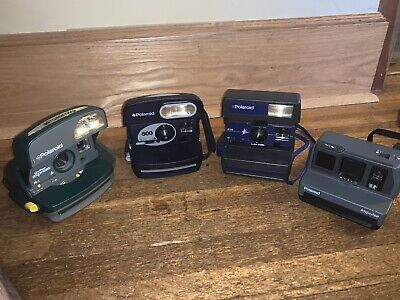 Polaroid 600 Instant Film Camera Lot (16) - Tested & Working