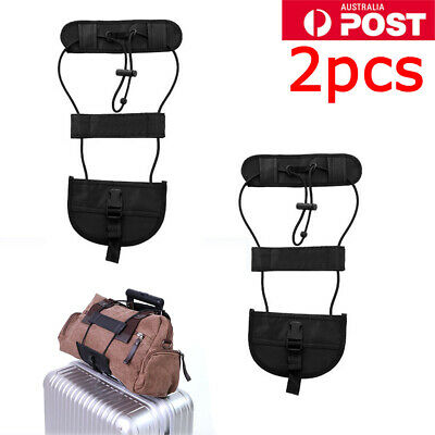 2X Travel Luggage Suitcase Adjustable Tape Belt Add A Bag Strap Carry Bungee OZ