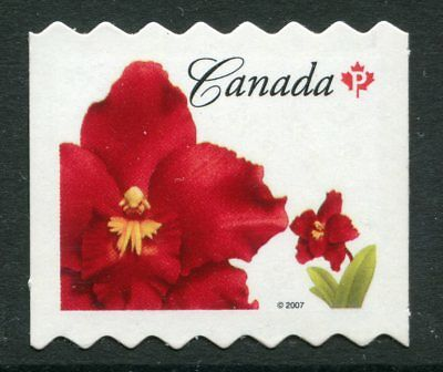 Weeda Canada 2244ii VF NH Die cut 2007 Red Flowers, from Annual Collection