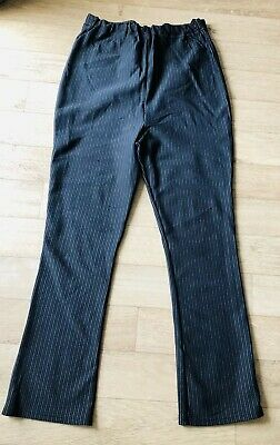 Mothercare Maternity Over Bump Pinstripe Trousers Size 16 Leg 30