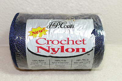 J & P COATS NYLON Crochet Thread #20 NAVY BLUE A70 150 YARDS NEW