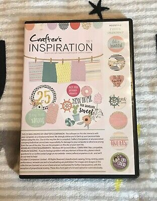 Crafters Companion - Crafters Inspiration - PC CD-Rom - No 19 - Brand New