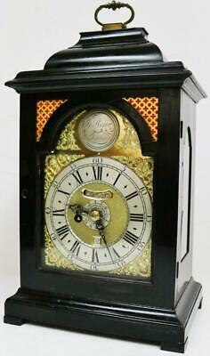 Antique English Single Fusee Verge 8 Day Bracket Clock John Rone London C1775