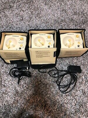 Lot of 3 Medela Pump In Style Advanced Breastpump Motors Only + 2 Power Adapters